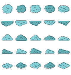 Clouds set in cartoon style vector