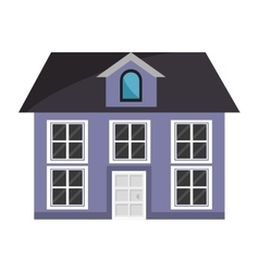 colorful house and windows graphic vector image