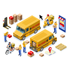 Courier parcel order delivery concept vector