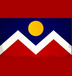 Denver city flag vector