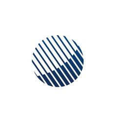 digital technology logo design template vector image