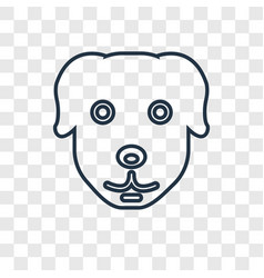 dog concept linear icon isolated on transparent vector image