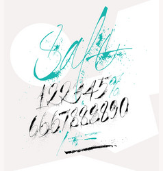 Expressive numbers for sale advertisement vector