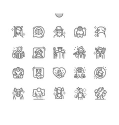 Fantastic characters well-crafted pixel vector