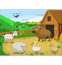 Farm cartoon educational vector