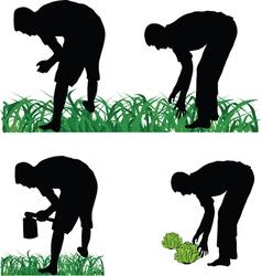 Farmer gardener vector