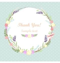 Floral frame card design vector