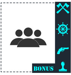 friends icon flat vector image