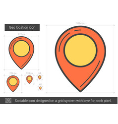 Geo location line icon vector