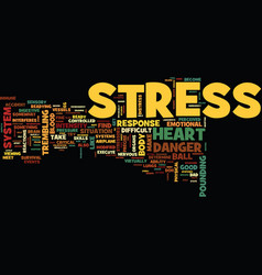 Good stress and bad stress text background word vector