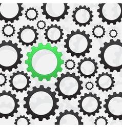 Green gear vector image