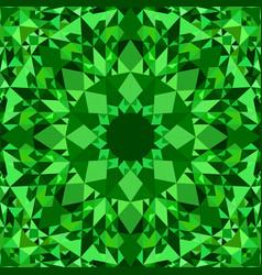 Green seamless kaleidoscope pattern background vector