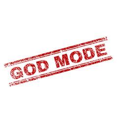 Grunge textured god mode stamp seal vector
