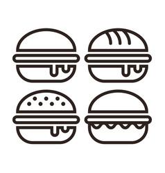 hamburger icon set vector image