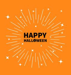 Happy halloween black text pumpkin smiling face vector