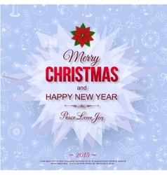 Happy New Year 2015 typographical celebration vector image vector image