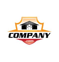 Home shield logo vector