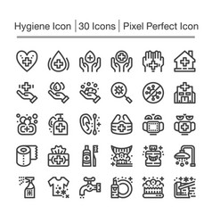 Hygiene line icon vector