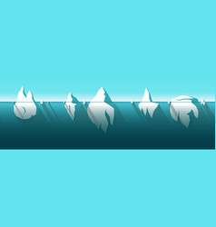 iceberg horizontally seamless pattern vector image