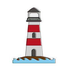 Lighthouse navigation symbol vector