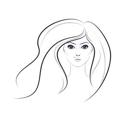 Lineart girl2 vector