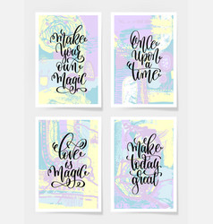 Make your own magic once upon a time love vector