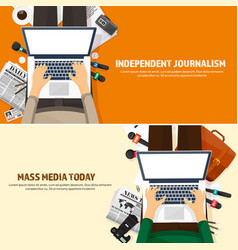 mass media background in a flat stylepress vector image