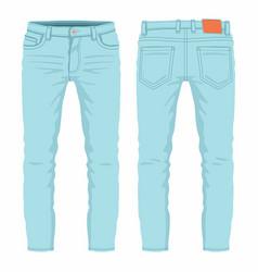mens light blue jeans vector image
