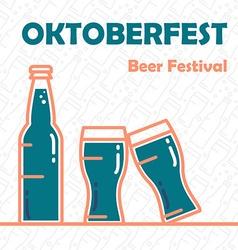 Oktoberfest Beer Banner vector image