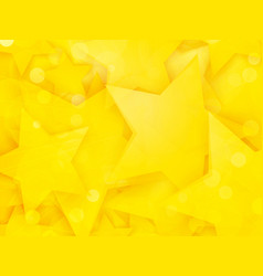 party background with yellow stars vector image
