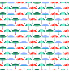 Pattern with umbrellas in flat style vector
