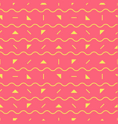 Pink geometric pattern vector