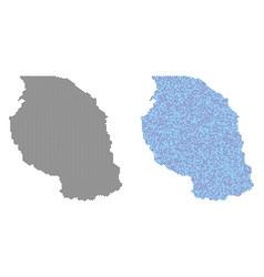 Pixel tanzania map abstractions vector