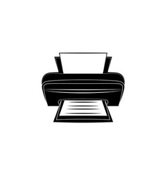 printer icon black on white background vector image