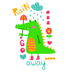 rain go away vector image