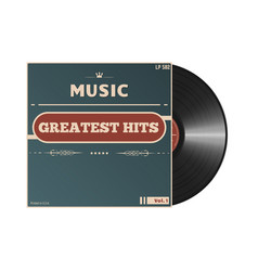 retro vinyl cover vector image