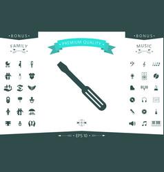 screwdriver icon symbol vector image