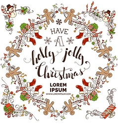 Set of Christmas calligraphic frames vector