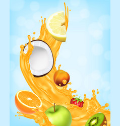 Splash of juice vector