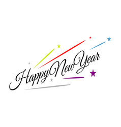 splashing firework new year 2020 celebrations vector image