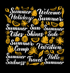 summer calligraphy design vector image