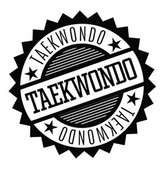 Taekwondo stamp in italian vector