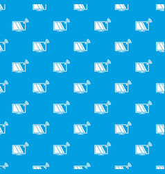 tv pattern seamless blue vector image