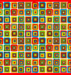 wrapping paper with concentric squares vector image