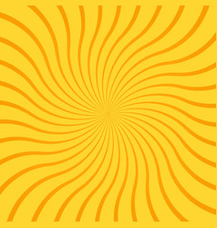 yellow abstract background with radial rays lines vector image
