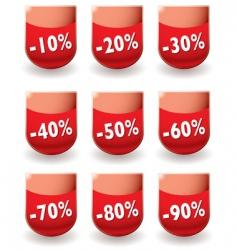 discount shop shield vector image vector image