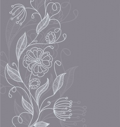 floral back grey vector image vector image