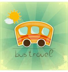 Fun bus travel card vector