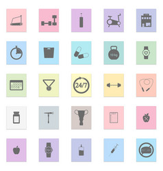 gym set black icon on color sticker vector image vector image