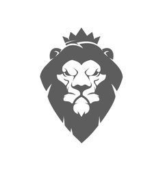 lion head with crown Design element for logo vector image